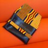 Clutch Purse made of faux leather and African Prints Fabric