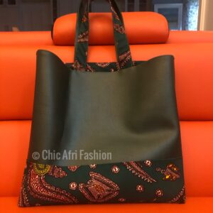 Tote Bag made from faux leather bag