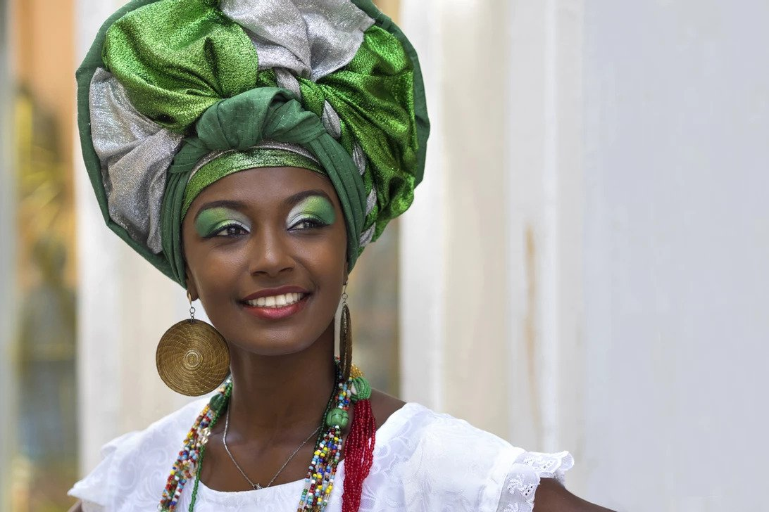 African Woman in headwra